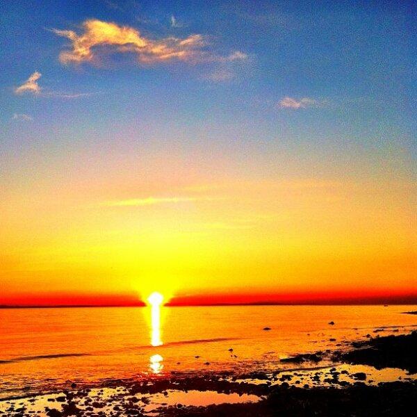 Blue golden Sunset